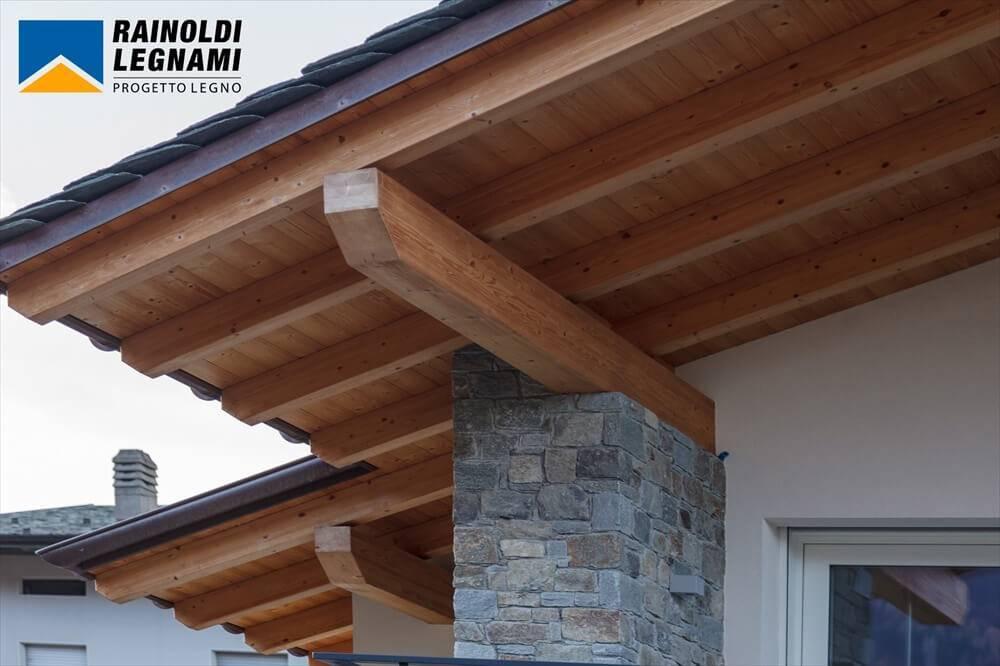 Copertura In Legno Isolata : Tetto in legno per villa privata
